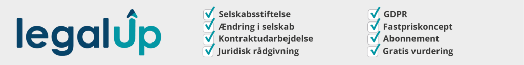 LegalUp, Jura på abonnement, Jura, Bizz Up Forår 2019, selskabsstiftelse