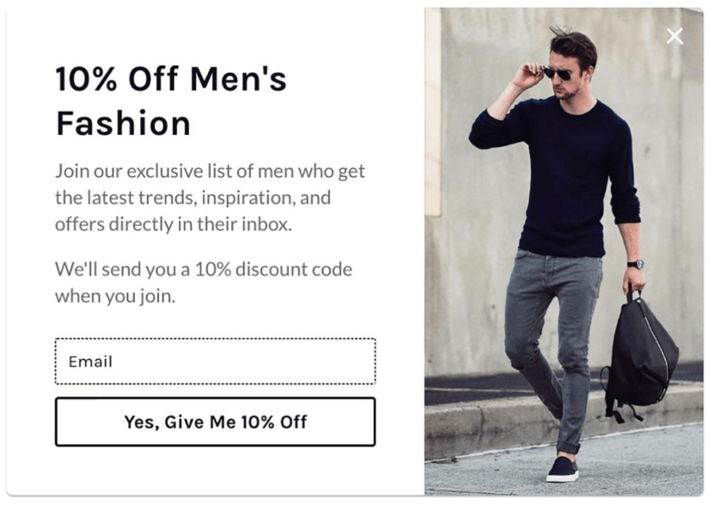 Mode til mænd, pop-up