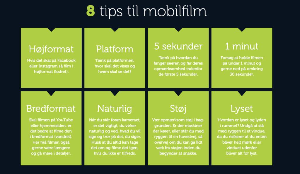 8 tips til mobilfilm, Bizz Up