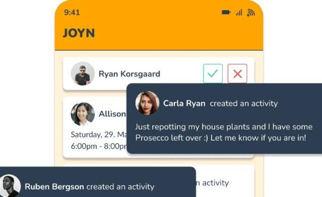 JOYN, socialt medie, Bizz Up